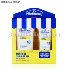 THE FACE SHOP Dr.Belmeur UV Derma Mineral Sun Cream SPF48 PA+++ 50ml + 30ml Set 2items,THE FACE SHOP
