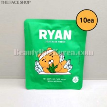 THE FACE SHOP Ryan Jeju Aloe Fresh Icy Soothing Face Mask 22g*10ea [THE FACE SHOP X KAKAO FRIENDS]