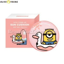 OLIVE YOUNG MINIONS Vita Tone-Up Sun Cushion SPF50+ PA++++ 15g
