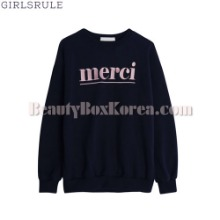 GIRLSRULE Merci Sweatshirt 1ea,Beauty Box Korea