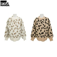 STYLENANDA Leopard Pattern Balloon Sleeve Sweater 1ea,Beauty Box Korea