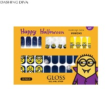 DASHING DIVA Gloss Gel Nail Strip 1ea [DASHING DIVA X MINIONS Halloween Collection]
