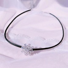 BLING STAR Cubic Snowflake Choker Necklace 1ea,Beauty Box Korea