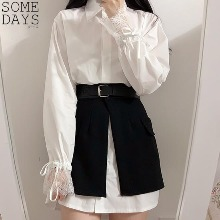 SOMEDAYS Balloon Shirt+Buckle Skirt One Piece Set 1ea,Beauty Box Korea