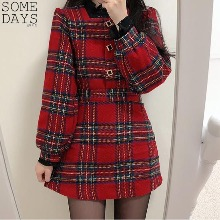 SOMEDAYS Holiday Check Blouse With Mini Skirt Set 1ea,Beauty Box Korea