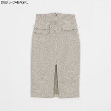 DABAGIRL Zip-Up Front Slit Skirt 1ea,Beauty Box Korea