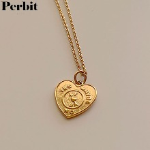 PERBIT Vin Heart Necklace 1ea,Beauty Box Korea