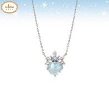CLUE Frozen 2 Elsa Mini Tiara Silver Necklace (CLNR19B77MWL) 1ea [CLUE X Disney]