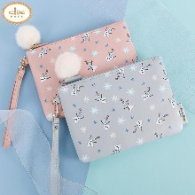CLUE Frozen Happy Olaf Pompom Pouch 1ea [CLUE X Disney]