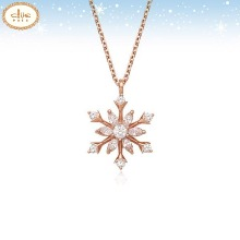 CLUE Frozen 2 Snow Flower Silver Necklace (CLNR19B74MPW) 1ea [CLUE X Disney]