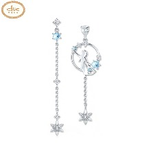 CLUE Frozen 2 Elegant Elsa Silver Earrings (CLER19B75PWL) 1pair [CLUE X Disney]