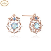 CLUE Frozen 2 Elsa Snow Flower Tiara Silver Earrings (CLER19B72PPL) 1pair [CLUE X Disney]