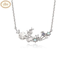 CLUE Frozen Olaf Silver Necklace (CLNR19B76MWL) 1ea [CLUE X Disney]