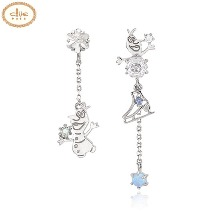 CLUE Frozen Lovely Olaf Silver Earrings (CLER19B76PWL) 1pair [CLUE X Disney]
