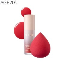 AGE 20'S Jericho Rose Glow Liquid Blusher & Puff Special Set 2items