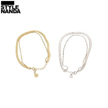 STYLENANDA Chunky Snake Chain Layered Bracelet 1ea,Beauty Box Korea
