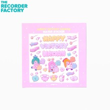 THE RECORDER FACTORY Happy Victory Kawaii Water Sticker 1ea