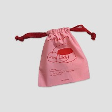 BE CHEERS! Purrine & Cherri Pink Cotton Pouch 1ea