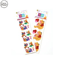 COCO PLANET Sandy Lion Winnie the Pooh Disney Sticker Vintage Sticker 1ea,Beauty Box Korea