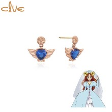CLUE Saint Something Four Gold Earrings (CLE20301T) 1pair [CLUE X Wedding Peach 2nd collaboration]
