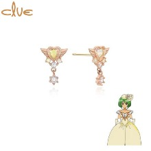 CLUE Wedding Daisy Gold Earrings (CLE20315T) 1pair [CLUE X Wedding Peach 2nd collaboration]