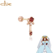 CLUE Angel's Magic Wand 10K Gold Piercing (CLE20312T) 1pc [CLUE X Wedding Peach 2nd collaboration]