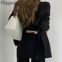 FLIPPED Back Cropped Jacket 1ea,Beauty Box Korea