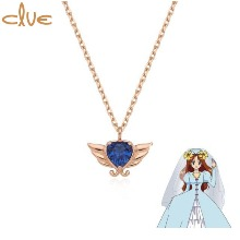 CLUE Saint Something Blue Gold Necklace (CLN20306T) 1ea [CLUE X Wedding Peach 2nd collaboration]