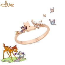 CLUE Lovely Bambi In The Forest Silver Miss Ring (CLRR189001PX) [CLUE X Disney] 1ea