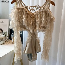 MIZGZ Lace Blouse Monokini Swimsuit 1ea,Beauty Box Korea