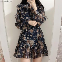 SOMEDAYS Belt Set Romance Flower Frill Dress 1ea,Beauty Box Korea