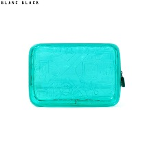 BLANC BLACK PVC Travel Pattern Pouch 1ea,Beauty Box Korea
