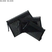 BLANC BLACK Square Mesh Pouch Set 3items,Beauty Box Korea