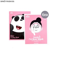 SPAO FRIENDS We Bare Bears I'm Bear Mask 25~30g*6ea