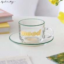APRIL IN MAY Colorful Dream - Mood Check Cup & Saucer 1set,Beauty Box Korea