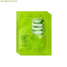 NATURE REPUBLIC Soothing & Moisture Aloe Vera 92% Soothing Gel Mask Sheet 30g*3ea