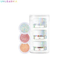 UNLEASHIA Get Loose Glitter Gel Mini Trio 4g*3ea