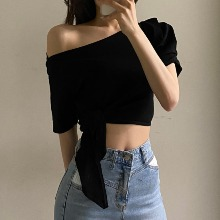 FLIPPED Off Shoulder  T-Shirt 1ea,Beauty Box Korea
