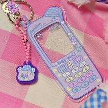 NEON MOON Sleepy World Teddy's Phone Key Holder 1ea [Sleepy Teddy Pink Edition],Beauty Box Korea