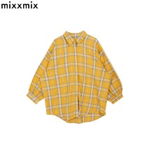 MIXXMIX NEVERM!ND Balloon Sleeve Oversized Check Shirt 1ea,Beauty Box Korea