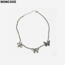 NONCODE Silver Butterfly Necklace 1ea,Beauty Box Korea