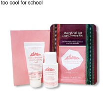 [mini] TOO COOL FOR SCHOOL Mineral Pink Salt Deep Cleansing Kit 3items,Beauty Box Korea