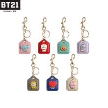BT21 Baby Leather Metal Keyring 1ea [BT21 x MONOPOLY]