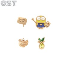 OST Bob And Teddy Bear Package Earrings (OTE420714QPX) 2pair [OST X MINIONS]