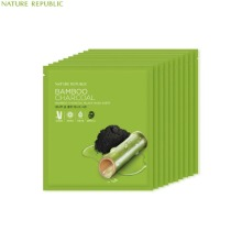 NATURE REPUBLIC Bamboo Charcoal Black Mask Sheet 27ml*10ea