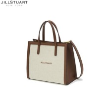JILLSTUART NEWYORK ACC [Pipi Bag] Brown Leather Color Matching Canvas Tote Bag (JABA0F616W2) 1ea,Beauty Box Korea