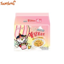 SAMYANG Cream Carbo Spicy Fried Noodle Buldak Bokkeum Myun 140g*4ea