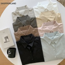 SHOPPERLAND Leaves Mood Autumn Cotton Shirt 1ea,Beauty Box Korea