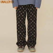 UNALLOYED Argyle Denim Pants Black 1ea,Beauty Box Korea