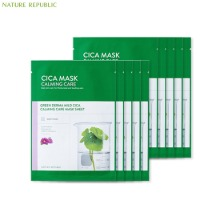 NATURE REPUBLIC Green Derma Mild Cica Calming Care Mask Sheet 25ml*10ea